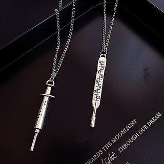 Alloy Syringe / Thermometre Pendant Necklace
