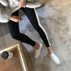 Contrast-trim Leggings Pants
