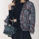 Faux Pearl Tweed Jacket