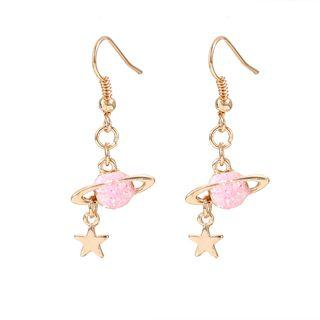 Alloy Planet Dangle Earring 1 Pair - Gold - One Size