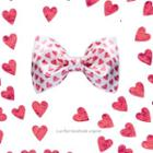 Heart Print Bow Tie