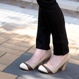 Contrast Color Pumps