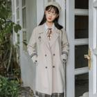 Double-breasted Embroidered Trench Coat
