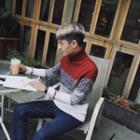 Gradient Turtleneck Sweater