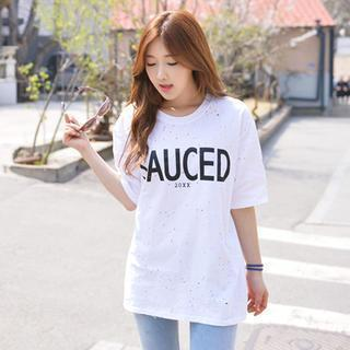 Distressed Lettering T-shirt