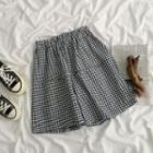 High-waist Plaid Shorts Shorts - One Size