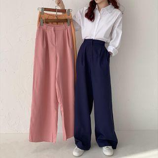 Plainwide-leg Pants