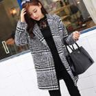 Plaid Loose-fit Coat
