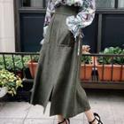 Plain Slit Maxi Skirt