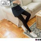 Inset Striped Mini Skirt Leggings