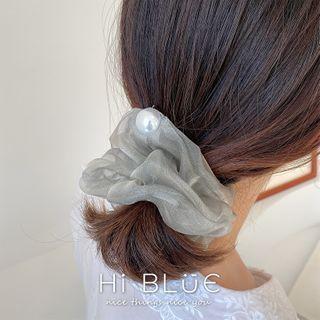 Faux Pearl Ruffle Hair Tie