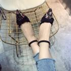 Ankle Strap Pointed Lace Pumps