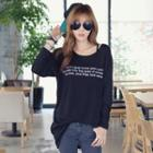 Lettering Long-sleeve Top