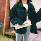 Fringed Buttoned Denim Jacket