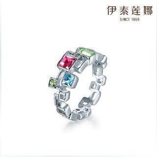 Swarovski Elements Crystal Geometric Ring