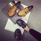 Buckled Faux-leather Loafers