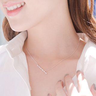 Cz Bar Necklace