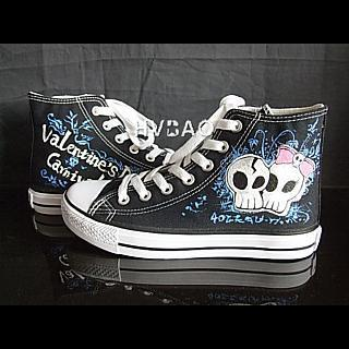 Valentines Day Carnival High-top Canvas Sneakers