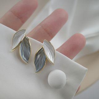 Leaf Alloy Earring 1 Pr - Gold - One Size