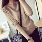 Ribbed Mohair Knit Top
