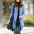 Fleece Lined Cable Knit Long Cardigan
