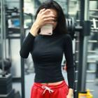 Long-sleeve Striped Sports Top