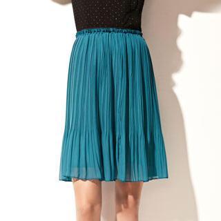Accordion-pleated Midi Skirt