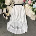 Chiffon Layered Pleated Skirt