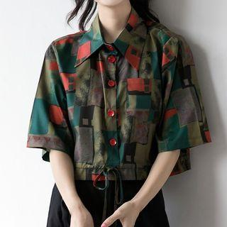 Printed Short-sleeve Shirt As Shown In Figure - M