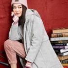 Hooded Corduroy Coat