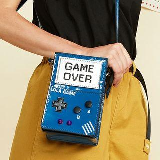 Faux Leather Game Console Crossbody Bag