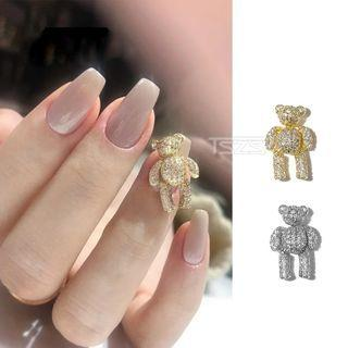 Rhinestone Bear Nail Art Decoration
