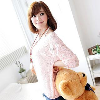 3/4-sleeve Lace Top
