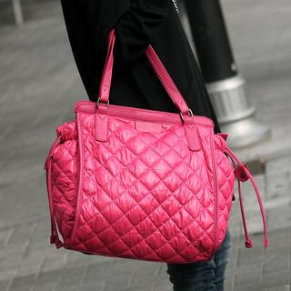 Quilted Tote Pink - One Size