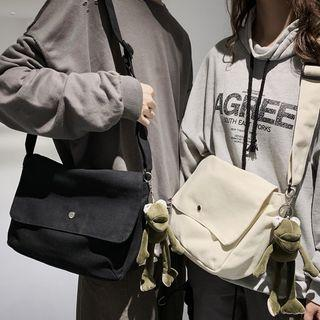 Canvas Flap Shoulder Bag