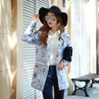 Printed Single-button Coat