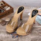 Slide High-heel Sandals