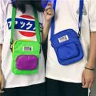 Color Blcok Canvas Crossbody Bag
