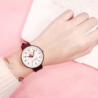 Heart Print Strap Watch