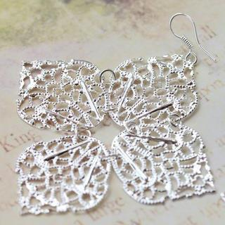 Luncky 4 Leaves Earrings -silver
