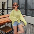 Oversized Linen Blend T-shirt