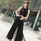 Set: Tank Top + Chiffon Wide-leg Pants
