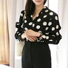 Notched-lapel Dotted Shirt