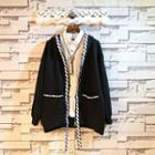 Contrast Stripe Hooded Zip Jacket