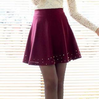 Beaded A-line Skirt