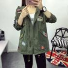 Patch Hooded Jacket