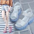 Transparent Platform Wedge Sandals