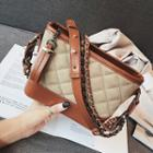 Quilted Chain Detail Strap Crossbody Bag