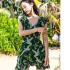 Printed Sleeveless A-line Chiffon Dress