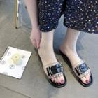 Buckled Clear Slide Slippers